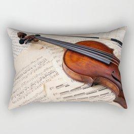 Violin music and notation Rectangular Pillow