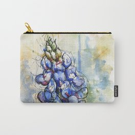 Spring Watercolor Texas Bluebonnet Flowers Carry-All Pouch