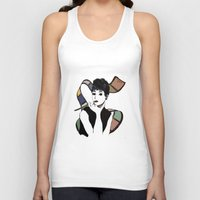 hepburn Tank Tops featuring hepburn by Jessica Brophy