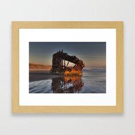 Shipwreck at Sunset Framed Art Print