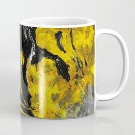 Yellow and Black Abstract Painting Coffee Mug