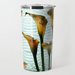 Blue Swamp Calla Lilies Travel Mug