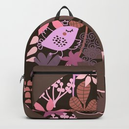 Afro Diva : Sophisticated Lady Pink Taupe Lavender Backpack