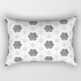 Floralmetric Rectangular Pillow