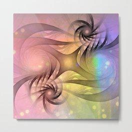 shining fractal design Metal Print