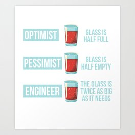 Funny Engineer Gift Art Print