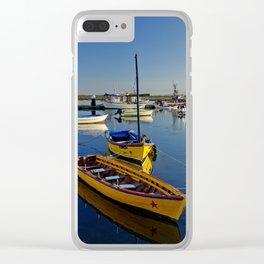 Yellow fishing boats near Tavira, the Algarve, Portugal Clear iPhone Case