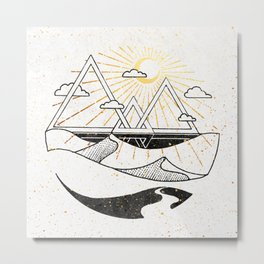 Triangle Dunes Inktober :: Destiny Laced Beneath The Deserts Metal Print