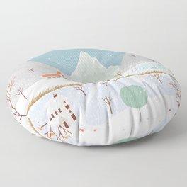 Winter Landscape Floor Pillow