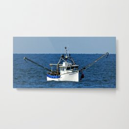 Fishing on the Sea 3 of 3 Starboard side view Metal Print
