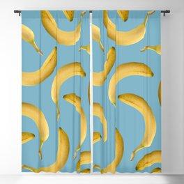Bananas Pattern - turquoise Blackout Curtain