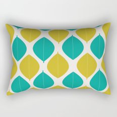 TEAL AND GREEN LEAVES Rectangular Pillow