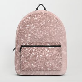 Rose Gold Sparkles on Pretty Blush Pink II Backpack