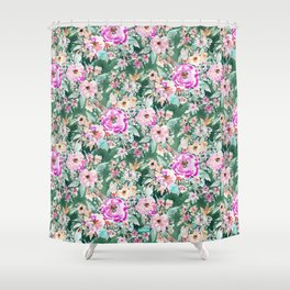 WANDERLUSH Colorful Floral Shower Curtain