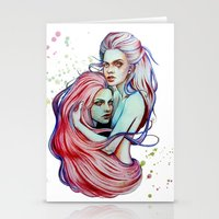 gemini Stationery Cards featuring Gemini by Olga Noes