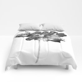 Flower, black and white Comforters