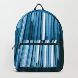 Hyperspace Fiber Optics Blue white Streaks Of Light Backpack