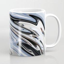 Grey and Black Metal Marbling Effect Abstract Coffee Mug