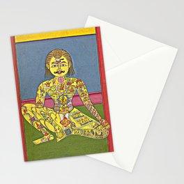 Sapta Chakra, from a Yoga Manuscript Stationery Cards