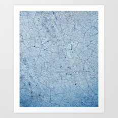 Cracks In Blue Art Print