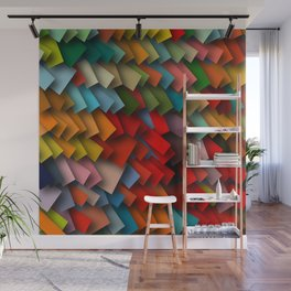 colorful rectangles with shadows Wall Mural