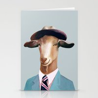 goat Stationery Cards featuring Goat by Animal Crew