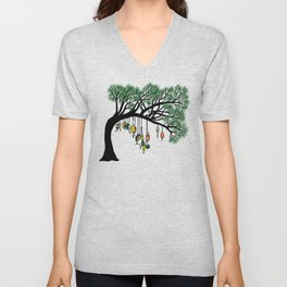 Buoy Tree by Seasons K Designs for Salty Raven Unisex V-Neck