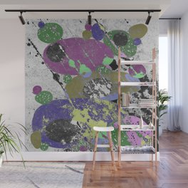 Stack Em Up! - Abstract, textured, pastel coloured artwork Wall Mural