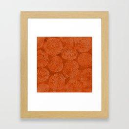 Tribal Terracota Rounds Framed Art Print