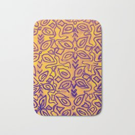 boho yellow Bath Mat