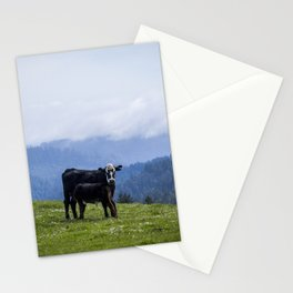 Mama and her baby calf. Stationery Cards