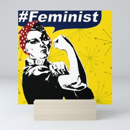 Rosie the Riveter B&W | Feminist Mini Art Print