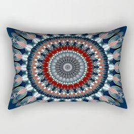 Festive Winter Night Mandala Rectangular Pillow