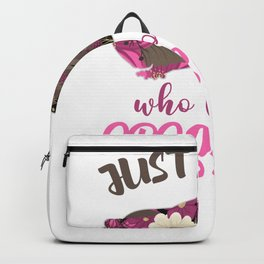 Possum Just a Girl Who Loves Opossum Live Ugly Cute Gift Backpack