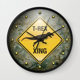 T-Rex Crossing Wall Clock