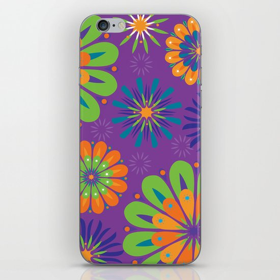 Psychoflower Purple iPhone & iPod Skin
