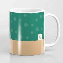 Aubrey - Hunter Green and Tan Coffee Mug