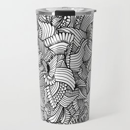 Abstract Fullpage Doodle Travel Mug