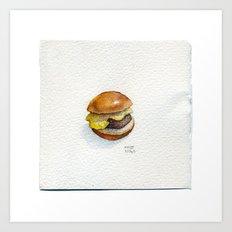 Your Favourite Burger  - Drawing #3 Art Print