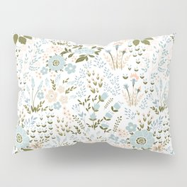 pastel flowers Pillow Sham