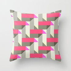 Herringbone geometric Throw Pillow