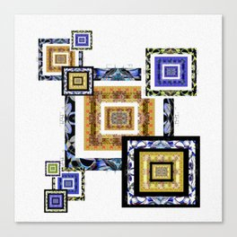 Modern Minimalism Meditation Boxes Canvas Print