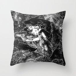 The Child Sleeps (B&W) Throw Pillow