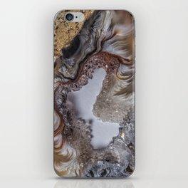 Marbled crystal geode iPhone Skin