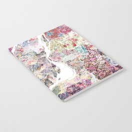 Montreal map - Landscape orientation Notebook