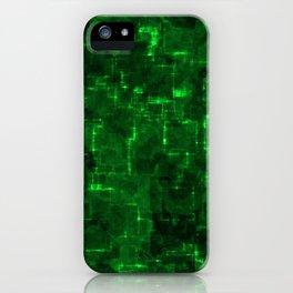 Cyber green glow iPhone Case