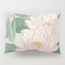 Water Lily Japanese print Pillow Sham