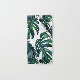 Tropical Palm Leaves Classic on Marble Hand & Bath Towel