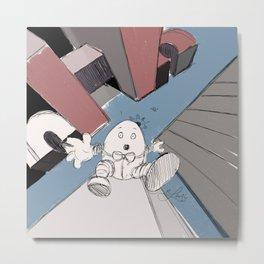 Humpty Dumpty's Free Fall Metal Print
