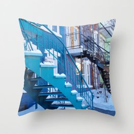 Montreal Local Color Throw Pillow
